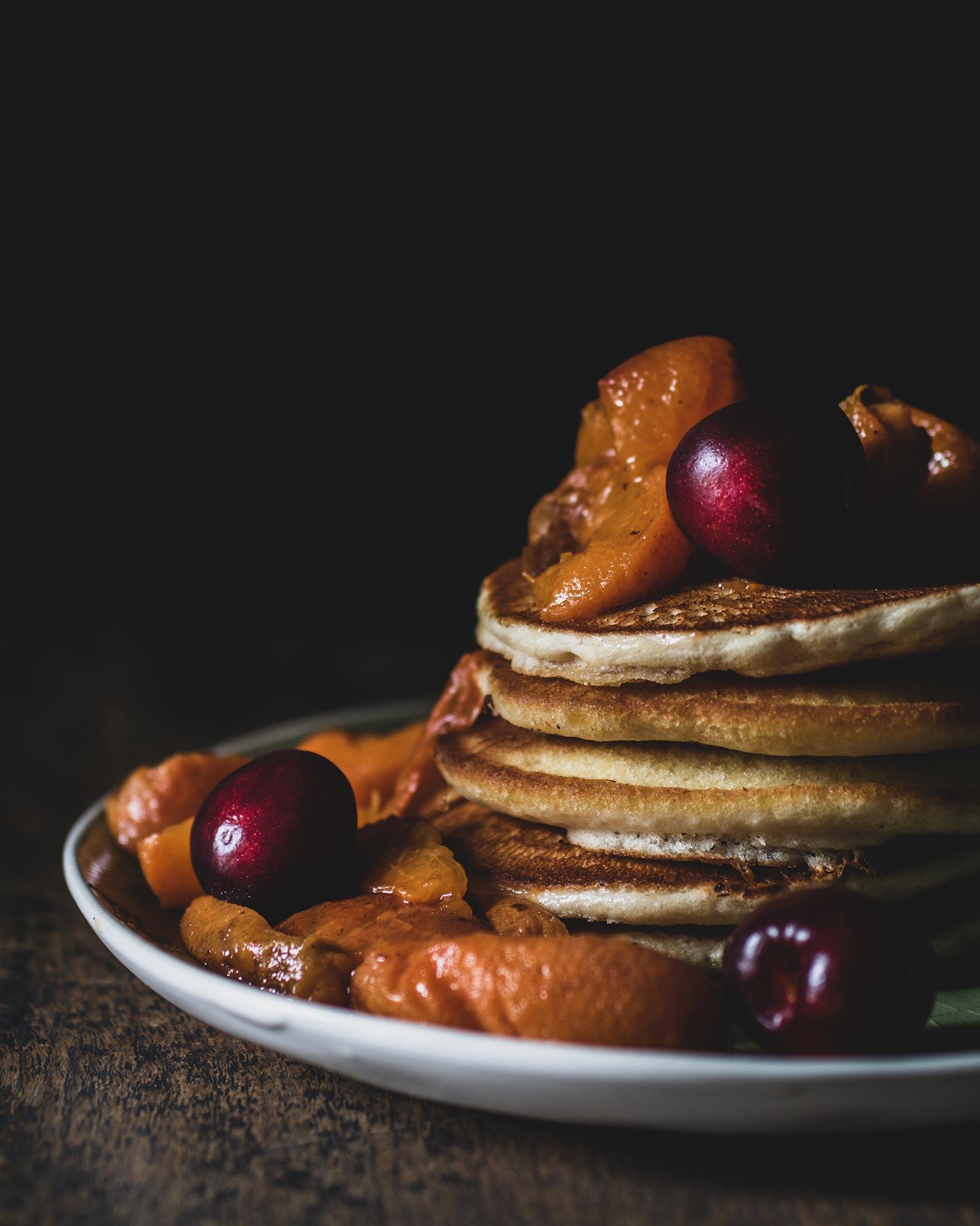 Klassische Pancakes vegane pancake vegane pancakes