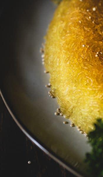 Persischer Reis mit Thadig Kruste
